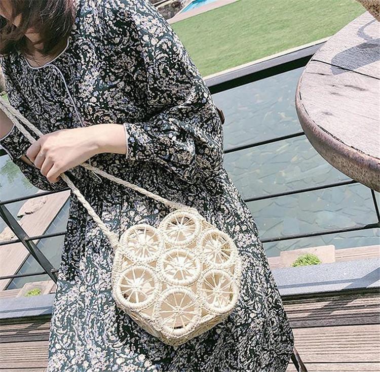 【春作 綺麗一枚】韓国ファッション 2020新しい  ハンドバッグ 織バッグ ハンドメイド