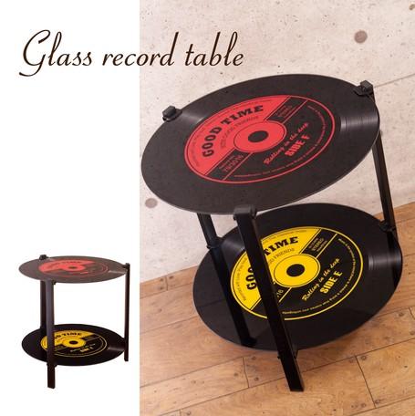 ガラスレコードテーブル【2段 COFFEE テーブル】