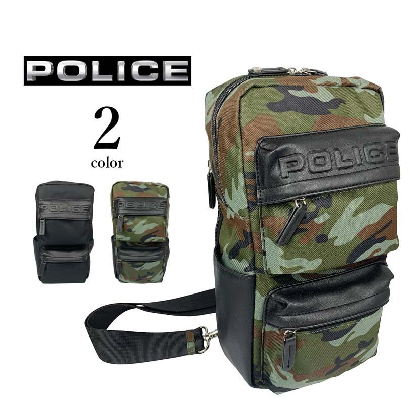 【全2色】 POLICE ポリス GIORNO ジョルノ ワンショルダー ボディバッグ斜め掛け バッグ