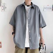tシャツ ストライプ  メンズ 半袖 カーディガン シンプル 涼しい