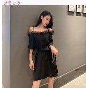 韓国風 + メッシュ キクラゲなようなエッジ ワンショルダードレス 女 夏 新しいデザイ