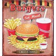 アメリカンプレート ハンバーガー アメリカン雑貨 看板プレート BIGプレート サインボード ガレージ