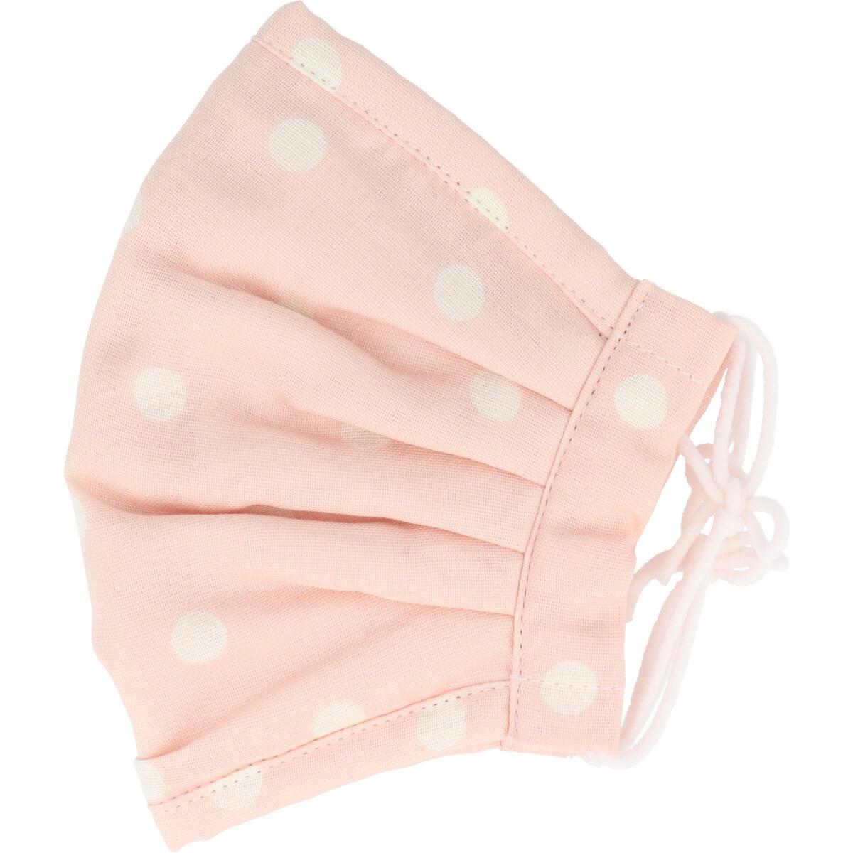 ふわふわマスク 今治産タオル 超敏感肌用 ピンクドット ゆったり大きめサイズ 1枚入