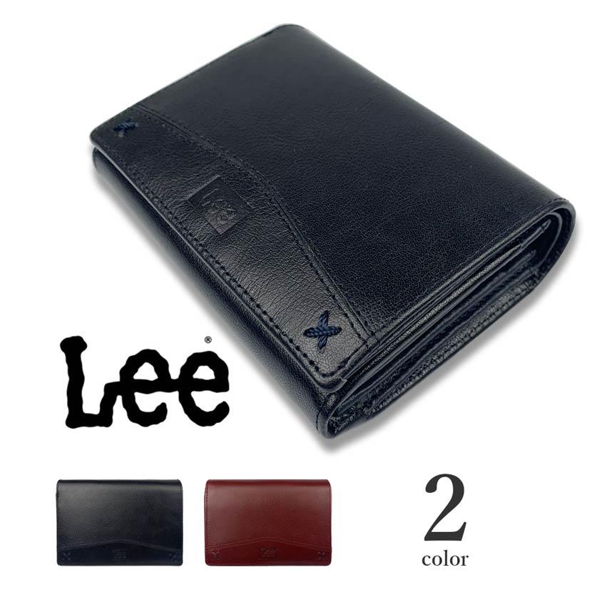 【全2色】 LEE リー リアルレザー 二つ折り財布 ウォレット L字ファスナー 小銭入れ