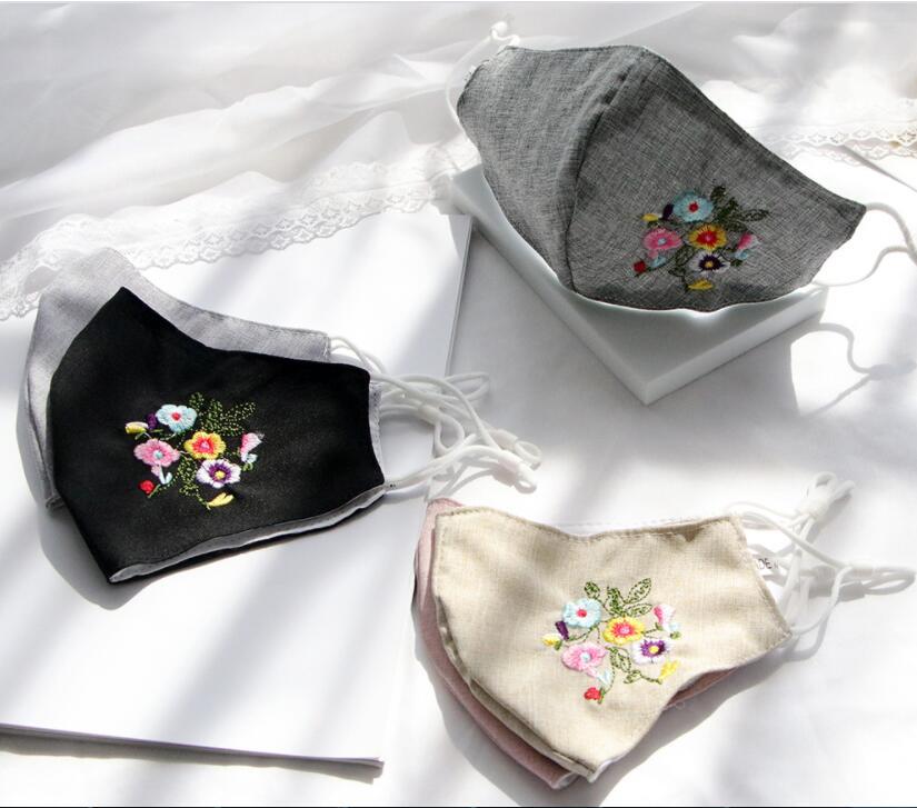 秋冬マスク 洗えるマスク 布マスク 立体マスク 花粉症対策 防塵マスク 大人用 ファッションマスク 刺繍