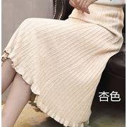 ニット Aラインスカート 4色展開 きれいめ 秋冬スカート