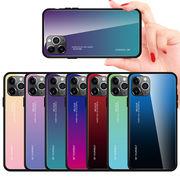 iPhone12ケース スマホケース ガラスケース iphone11ケース iphone12Proカバー