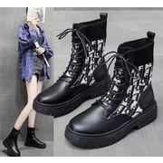 【即納】ニットブーツ/ソックスブーツ/レースアップブーツ/靴v-ali-a187