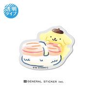 ポムポムプリン お寿司 透明ステッカー ホタテ サンリオ インバウンド ライセンス商品 LCS1015 2020新作