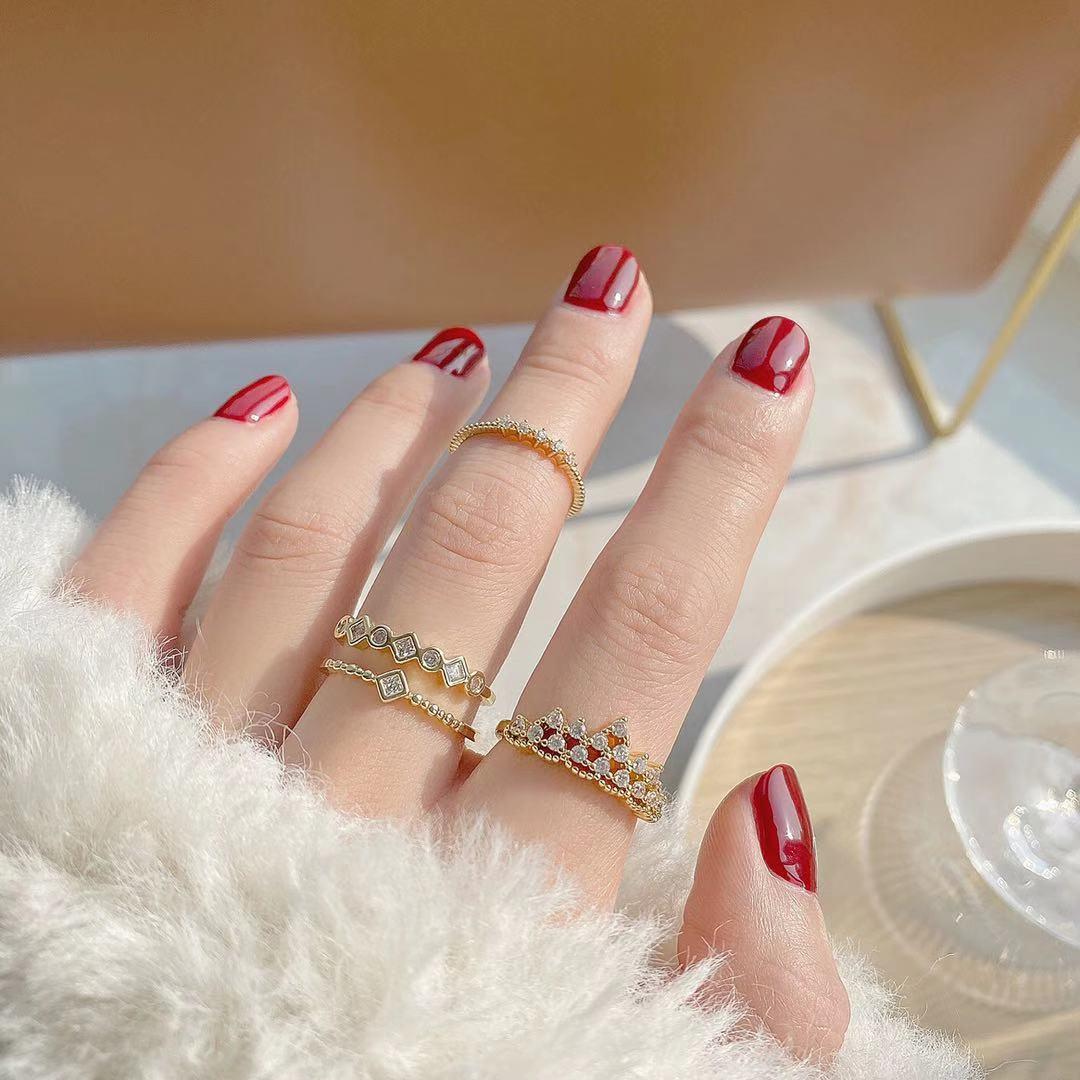 即納 高品質フリーサイズ リング 指輪 開口指輪 ゴールドメッキ 真鍮