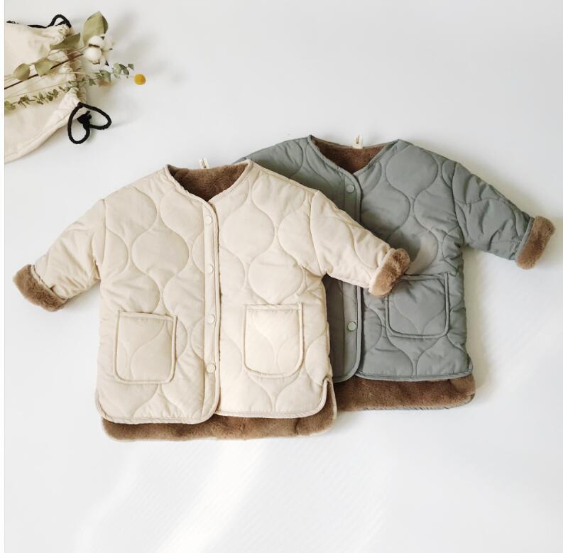 コート 長袖ジャケット 男女兼用 キッズ服 韓国子供服トップス コート 綿服
