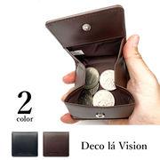 【全2色】Deco la vision デコラヴィジョン エンボスレザー ボックスコインケース