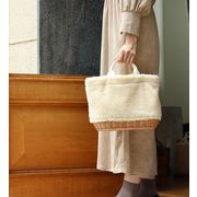 【KAGOBAG】【CARMELINA(カルメリーナ)】柳ボアオーバルバッグ 3色