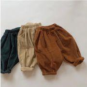 全3色 女の子男の子 コーデュロイ素材ズボン ボトムス パンツ キッズ 子供服