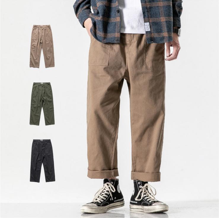 新作 春夏 カジュアルパンツ 無地 ジーパン イージーパンツ ワークパンツ メンズ 韓国ファッション