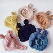 ベビー帽子 秋冬新作 キッズハット 男女 子供ロシア帽 ウシャンカ帽子 ふわふわボア 耳あて48-52cm