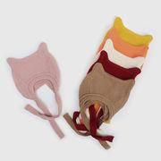 ベビー帽子 秋冬新作 キッズハット 男女 子供 knit 猫耳 ソフト帽子 ニット帽 耳あて帽子 46-49CM