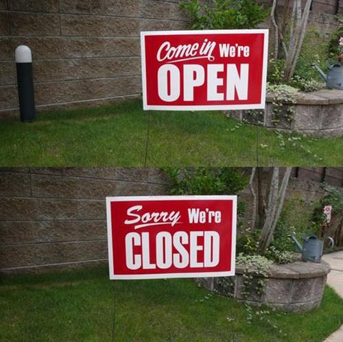 ヤードサイン(OPEN/CLOSE)