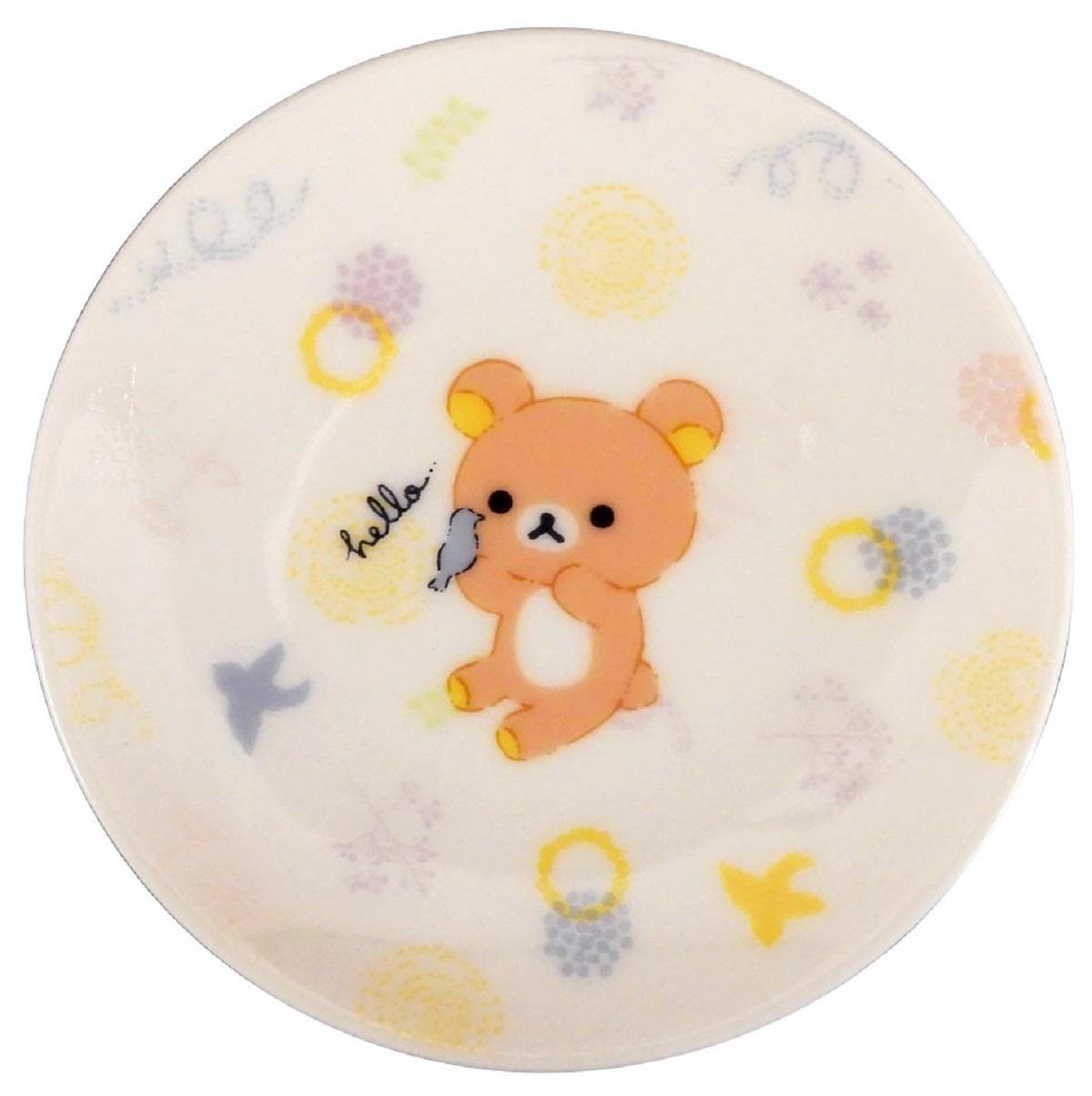 【リラックマ】豆皿 ホワイト