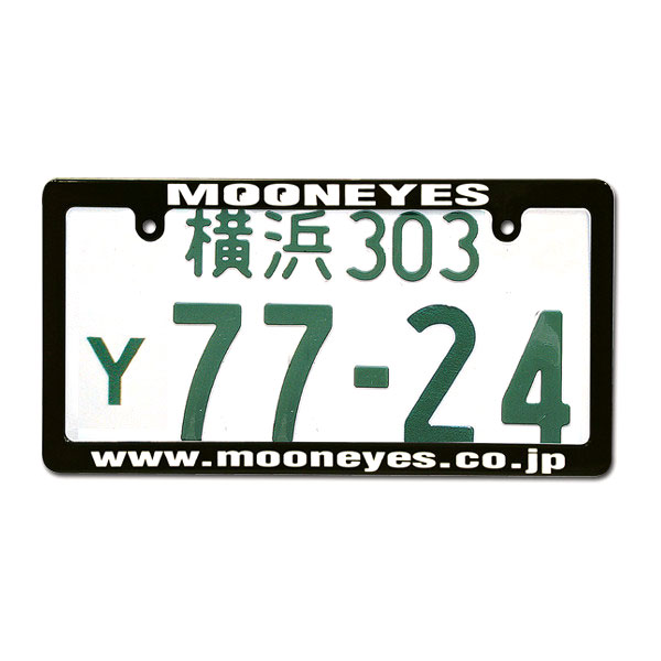 MOONEYES ブラック ナンバープレート ライセンス フレーム ムーンアイズ MG060BKMOW