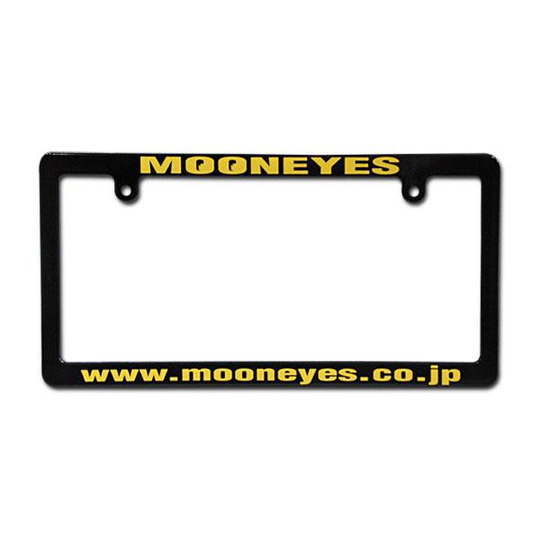 MOONEYES ブラック ナンバープレート ライセンス フレーム ムーンアイズ MG060BKMO