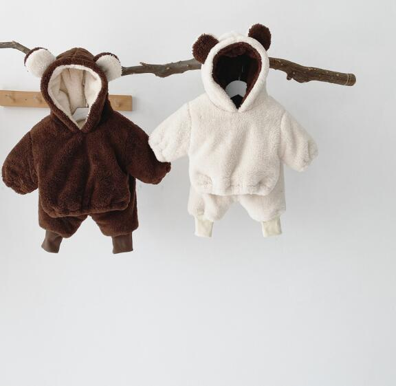 2020冬新作 子供服 セットアップ トップス+パンツ 裏起毛 男女兼用 カジュアル系