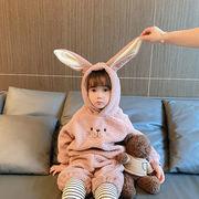 【KID】冬秋 厚いパーカー 暖かい子供服 動物服  動物着ぐるみ 全3色