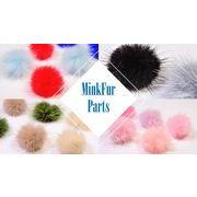 【秋冬アクセサリー】ボリュームありミンクファー(芯は約35mm、毛先含めて50-55mm)最安値保証