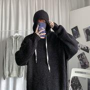トップス ニット セーター パーカー フード ゆったり 長袖 メンズ 韓国ファッション 秋冬