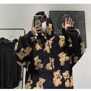 【Mens Women】大人も可愛いぬくぬく熊さんセーターパーカー 全3色