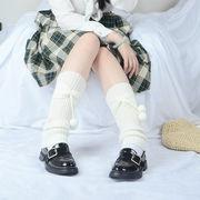 足首ウォーマー カバー レッグウォーマー ちょう結び 二色 6入 ニット 編み ソックス 靴下 防寒