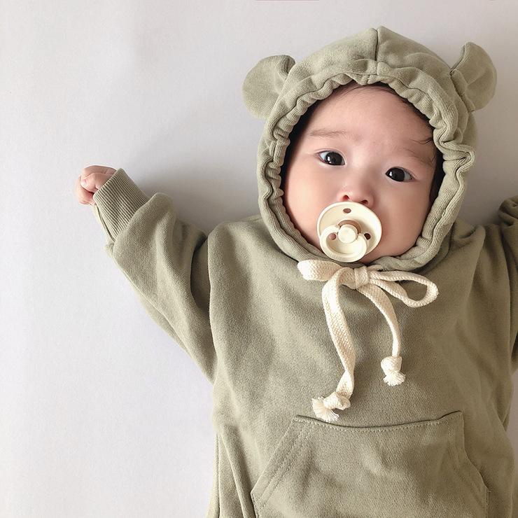 【KID】ベビー服 長袖ロンパース お熊さん 可愛い