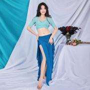 ダンス教室 ベリーダンス  初心者 練習服 不規則スカート チョリ レースアップ シャツ+スカート