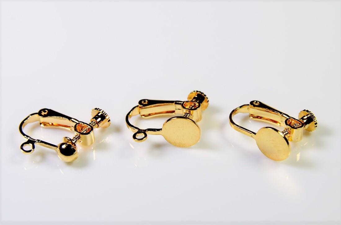 ◆店内全商品営業日当日出荷【銅製高品質イヤリング金具】ネジ式イヤリング基礎金具・ピアス金具