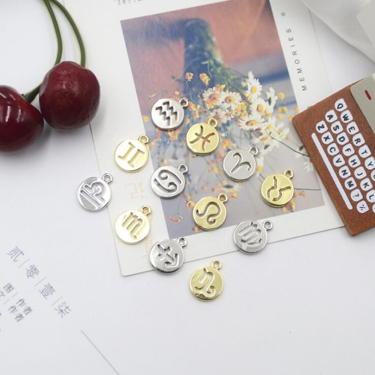 ハンドメイド 星座パーツ メタルチャーム 金/銀 アクセサリーパーツ デコパーツ DIY ゴールド シルバー