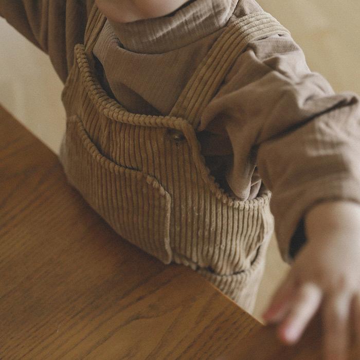 【BABY KID】 コーデュロイサイドポケットオーバーオール 秋冬服   全2色