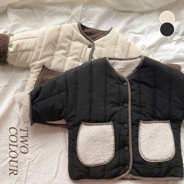 【BABY KID】  厚みのあるリバーシブルウールコートジャケット 秋冬服   全2色