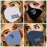 刺繍マスク2枚セット COCO HOLLYWOOD N9刺繍 MASK 秋冬 マスク 水洗可 新カラー