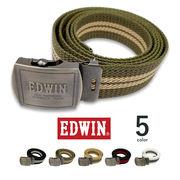 全5色 EDWIN エドウイン 日本製 ロングガチャベルト ライン デザイン
