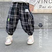 【KID】子供服 グレンチェックズボン ポケット付き オシャレジョガーパンツ