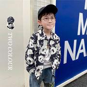 【KID】2021年韓国春新作 おしゃれなtシャツ ジャケット パンダ 五芒星