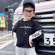 【KID】2021年韓国春新作 重ね着風シャツ 女の子 男の子 カジュアル 可愛くてオシャレ