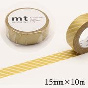 mt ストライプ・ゴールド マスキングテープ 15mm×10m