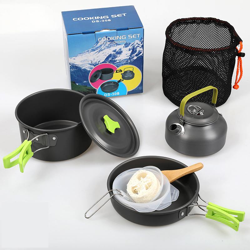 キャンプ用クッキングセット 軽量 キャンプ調理器具 飯盒