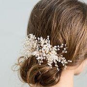 ヘッドドレス 髪飾り 髪留め クリスタルビーズ コーム 結婚式