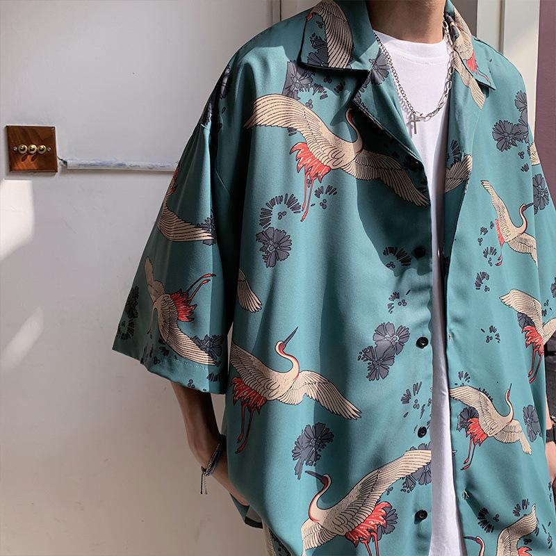 春夏新作 メンズトップス Tシャツ 半袖ジャケット カジュアル ゆったりカーディガン