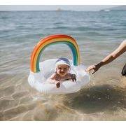 2021年新作★砂浜★水泳★コースター★素敵なデザイン★浮き輪★子供用★虹デザイン★可愛い★ベビー