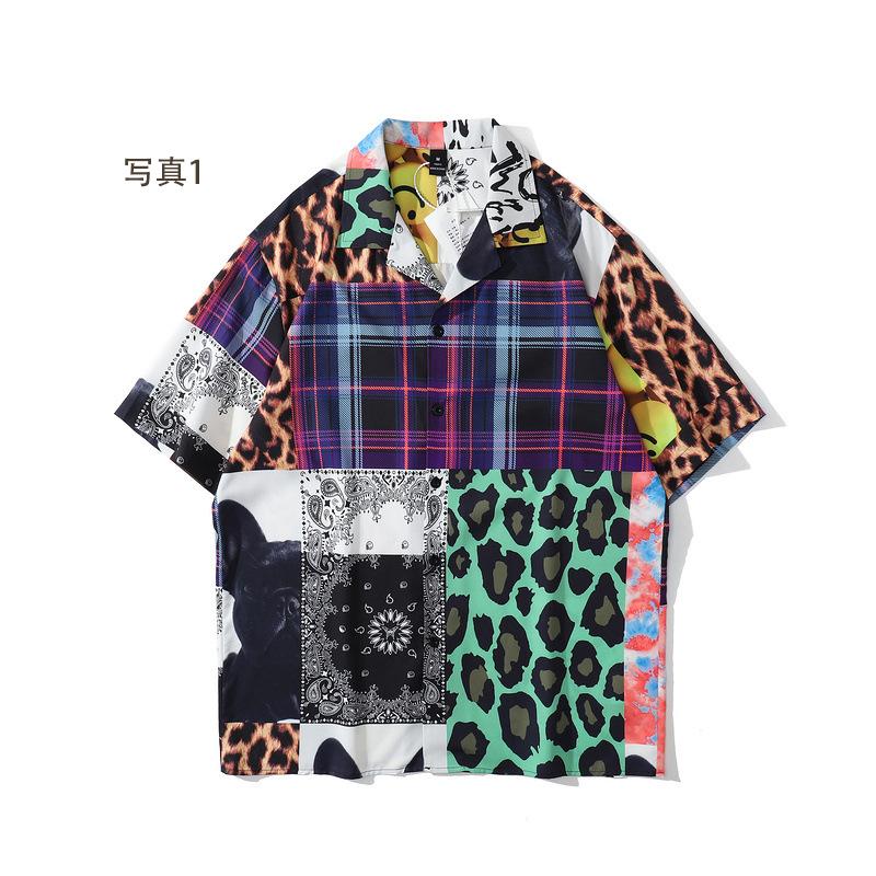 P10170 渋谷風 半袖 シャツ 男女兼用 SALE 半袖 ファッション 紫外線対策 日焼け止め メンズファッション