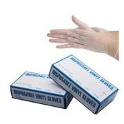 使い捨て手袋pvc超薄型無粉100箱  抗菌 料理 清掃 食品加工