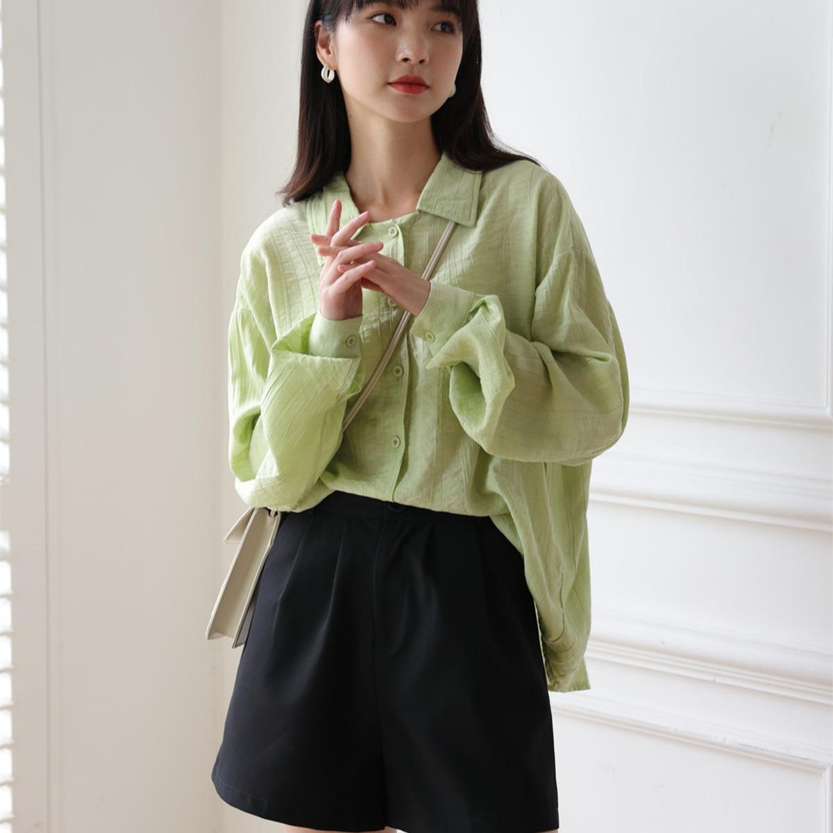 春夏 Yシャツ 可愛い おしゃれ 人気商品 ゆったり感